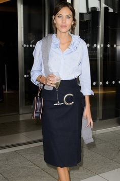 Alexa Chung in Shrimps and Jacquemus
