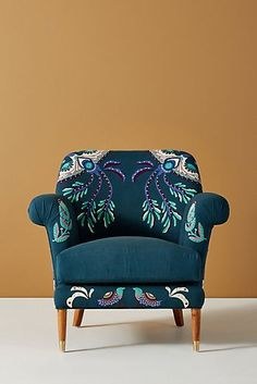 Aura Armchair by Anthropologie in Blue Size: All, Chairs Plywood Furniture, Hanging Furniture, Furniture Upholstery, New Furniture, Furniture Making, Furniture Makeover, Furniture Design, Discount Furniture, Eames