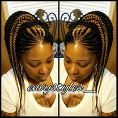 Hairdo Braided Cornrow Hairstyles, Ghana Braids Hairstyles, Twist Hairstyles, African Hairstyles, Box Braids Updo, Braided Updo, Cornrows, Black Girl Braids, Braids For Black Hair