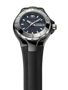 Men's watch: TechnoMarine Cruise Ceramic 36mm Black Silicone Watch 110026  #Watch #TechnoMarine #ArmCandy ;-)