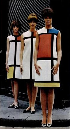 """Saint Laurent's 1965 """"Mondrian dress"""", which was inspired by the work of the painter, Piet Mondrian."""