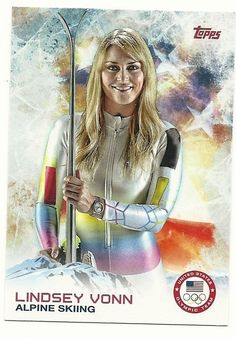 2014 Topps Winter Olympics Team LINDSEY VONN # 88 Alpine Skiing - SET BREAK