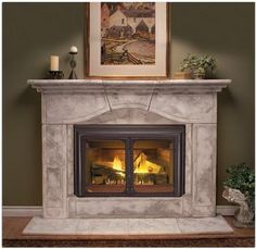 Gas insert available in clean burning, convenient natural gas or propane. Clear, unobstructed viewing area through an over 800 square inch heat resistant ceramic glass. Standard blower increases heating efficiency.