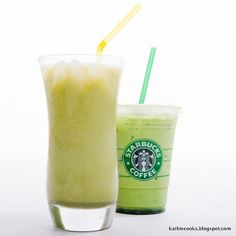 Starbucks - how to make a green tea latte at home. This is my favorite from Starbucks!