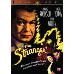 """The Stranger"" starring Edward G. Robinson, Loretta Young, Orson Welles (1946)"