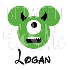 Personalized Mickey Mouse Mike Monsters Inc Disney Iron On Decal Vinyl for Shirt on Etsy, $6.99