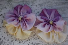 Fabric Flower Tutorial Pattern - Pansy - With Baby Headband and Accessories Tutorials. $6.00, via Etsy.