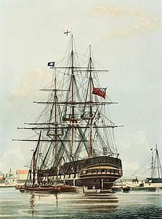 The Arniston was an East Indiaman that was wrecked on 30 May 1815 during a storm at Waenhuiskrans, near Cape Agulhas, South Africa, with the loss of 372 lives – only six on board survived. Storm And Silence, Old Sailing Ships, East India Company, East Indies, Wooden Ship, Nautical Art, Set Sail, Ship Art, Tall Ships