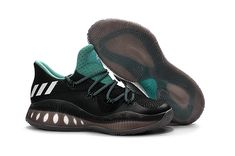 2017 Authentic adidas Crazy Explosive Low Black Teal For Sale - Click Image  to Close d6743364f