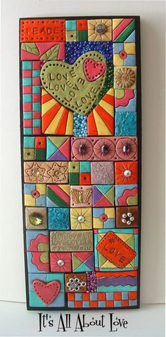 Customer Image Gallery for Mixed-Media Mosaics: Techniques and Projects Using Polymer Clay Tiles, Beads & Other Embellishments
