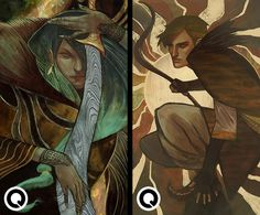 Tarot Commissions #15 and #16 by qissus on DeviantArt