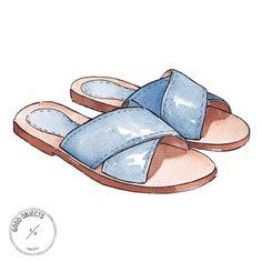 Good objects - Zara Crossover Leather Sandals @zara_worldwide #zara #goodobjects #illustration