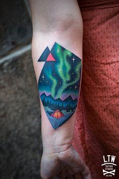 Otro de los tatuajes que hizo David durante su estancia la semana pasada.