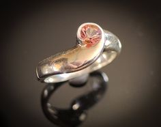 Natural Pink Spinel Ring Passion Cut Spinel Ring by Trencheff