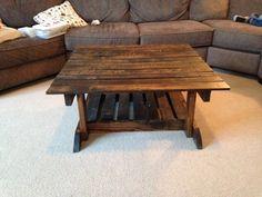 Pallet Coffee Table with Built-in Shelf - 150+ Wonderful Pallet Furniture Ideas   101 Pallet Ideas - Part 15