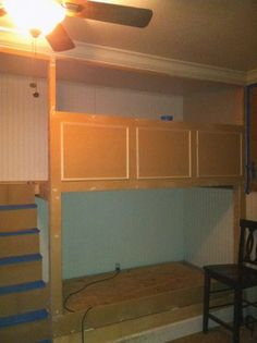 Building bunk beds - 4 beds, 2 trundles.  I would probably do storage instead of the trundles