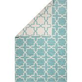 Found it at Wayfair - Avalon Cotton Flat Weave Blue/Ivory Area Rug