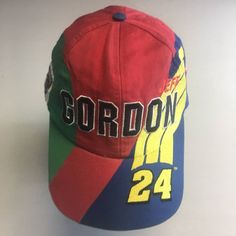 511423d2c5b Vintage Vintage Multicolored Jeff Gordan Nascar Snapback Hat Size one size  - Hats for Sale - Grailed