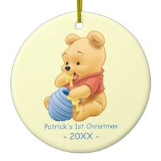 Baby's First Christmas, Baby Pooh Ceramic Ornament