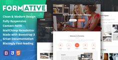 awesome Formative - Inventive One particular Web page Parallax Template (Inventive)