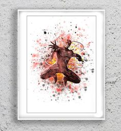 Daredevil Poster Art Print Marvel Watercolor by MulticolourArt