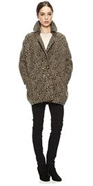 Animal printed car coat