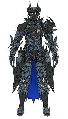 Dark Knight & Abyss Armor from Final Fantasy XIV: Stormblood #illustration #artwork #gaming #videogames