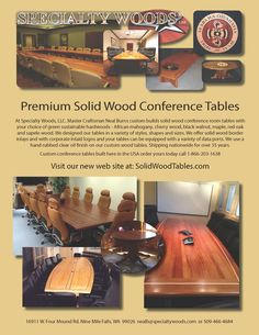 Your next conference room table, call 509-466-4684 www.solidwoodtables.com