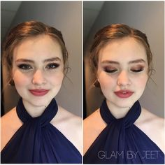 This gorgeous bridesmaid requested a light rosy smokey eye and matte face. we used makeup forever hd foundation and morphe blush to make her rosy complexion. mac whirl lined her lips to create a matte but sheer lip. naked 3 palette on eyes. eye luv me lashes in letty.