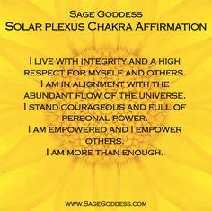 New Year 7 Days of Chakra Balancing- Day 3: Solar Plexus Chakra..~☆~