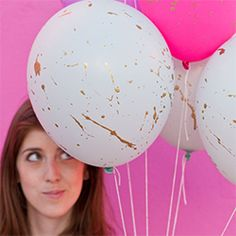 The easiest way to add some fun to plain balloons! Splatter paint!