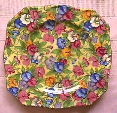 Ok, slightly obsessed with buying Royal Winton Chintz China Plates for cheap!  I love the square shaped ones