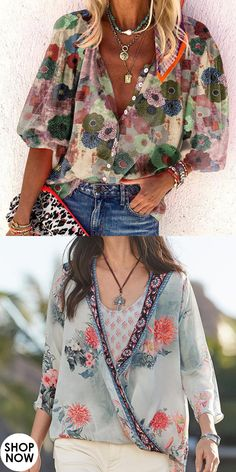 Trendy Clothes For Women, Blouses For Women, Fast Fashion, Printed Shirts, Fashion Dresses, Boho, Prints, Romper Outfit, Clothes
