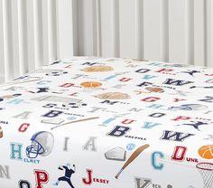 Liam Sports Nursery Bedding Set | Pottery Barn Kids