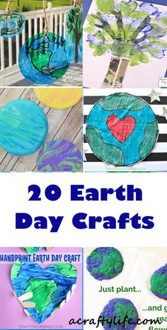 earth kid crafts - www.acraftylife.com #kidscraft recycle