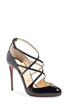 296051ff546 Christian Louboutin  Soustelissimo  Ankle Strap Pump available at   Nordstrom Sapatos De Grife