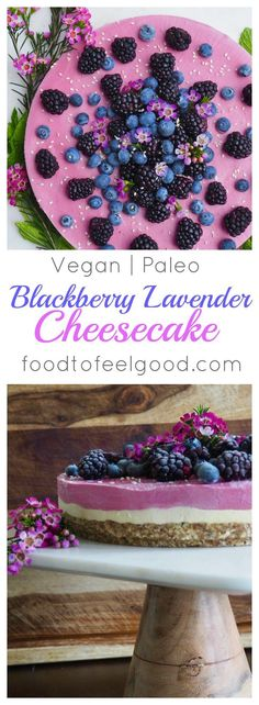 Raw Vegan Paleo Blackberry Lavender Cheescake recipe