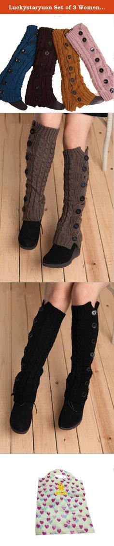 Luckystaryuan Set of 3 Women Button Boot Leg Warmer. Specifications: Material: Acrylic, comfortable to wear. Fashion and new arrival boot sock, popular in women girls ladies. Fashion boot sock, not only making her feel warm in this cold autumn winter also making her look more slim and fashion. Set of 3, send random color also different color. Enough for this autumn winter. In autumn, you can wear directly and in winter, you can wear it outside the inside pants or leggings. Luckystaryuan is…