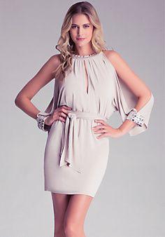Jewel Cold Shoulder Dress