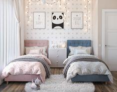 Kids Bedroom Designs, Room Design Bedroom, Room Ideas Bedroom, Home Room Design, Small Room Bedroom, Kids Room Design, Twin Girl Bedrooms, Bedroom Decor For Teen Girls, Baby Room Decor