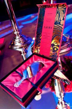 Convite debutante caixa e espelho de luxo