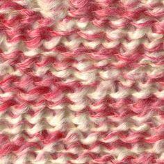 Lion Brand Homespun yarn in Parfait  Ellie Shawl (Twin Rib Stitch) (72 sts b/c Ellie was diagnosed on 7/2)