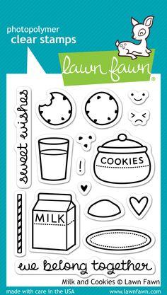 lawn fawn milk and cookies & die