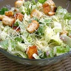 Caesar Salad Supreme Allrecipes.com  omit the croutons and it's low carb