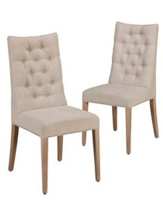 """£499 M&S chair pair. Just this one colour - """"natural"""", would need a fabric swatch."""