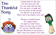"VeggieTales - The Thankful Song from ""Madame Blueberry"" Thanksgiving Songs For Preschoolers, Thanksgiving Preschool, Thanksgiving Feast, Thankful Songs, Thankful Heart, Preschool Music, Preschool Lesson Plans, Preschool Ideas, Veggietales"