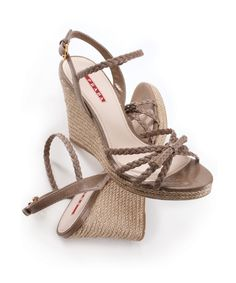Neutral Prada wedges #shoes