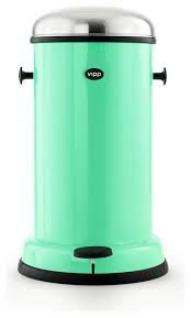 Wesco Kickboy Foot Pedal Bin, Orange contemporary kitchen trash cans ...