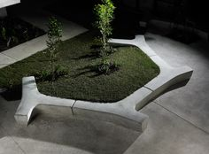 Landscape Forms – Outdoor Site Furnishings and Lighting for Commercial and Public Space Concrete Bench, Concrete Furniture, Bench Furniture, Urban Furniture, Street Furniture, Garden Furniture, Contemporary Landscape, Urban Landscape, Landscape Design
