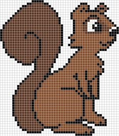 Squirrel hama perler beads pattern by Santian69 on deviantart